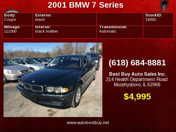 2001 BMW 7 Series 740iL 4dr Sedan Call for Steve or Dean