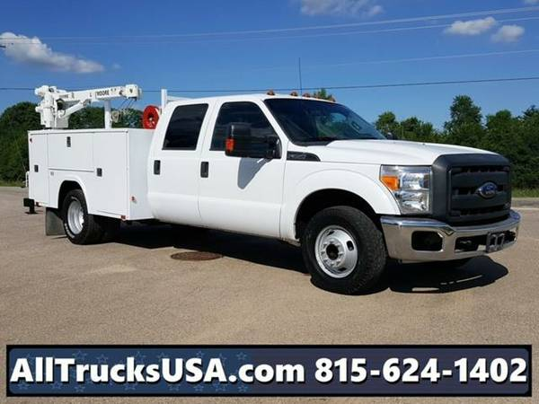 2013 *Ford F350* CREW CAB 6.2L GAS LIFTMOORE CRANE MECHANICS TRUCK...