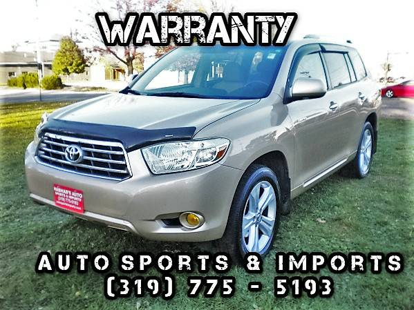 Super Nice! Very Clean! 2008 Toyota Higlander 4WD LTD-Leather-3rd Row