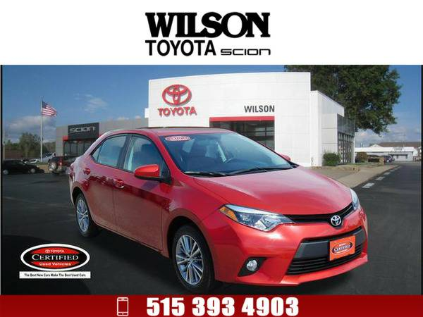 *2014* *Toyota Corolla* *LE* Red