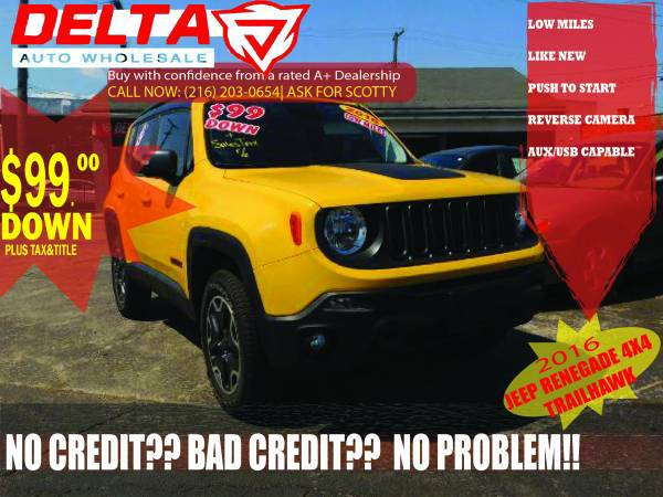 2016 Jeep Renegade Trailhawk Edition: VISIT HERE TO SEE MORE CARS!!