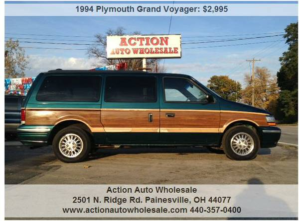 1994 Plymouth Grand Voyager LE 3dr Extended Minivan 3rd Row Very Clean