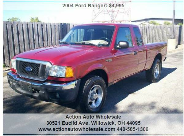 2004 Ford Ranger 4dr SuperCab XL 4WD SB Well Maintained Rust Free