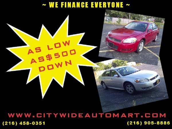 BAD CREDIT/ NO CREDIT?NO PROBLEM!DRIVE TODAY FOR AS LOW AS $500 DOWN!