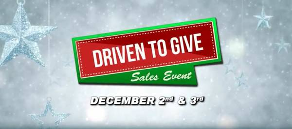 Give to the Food Bank this Weekend and SAVE on a New/Used Car Purchase