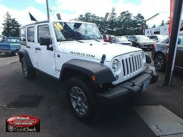 2014 *Jeep*Wrangler Unlimited* 4WD 4dr Rubicon - (WHITE)...