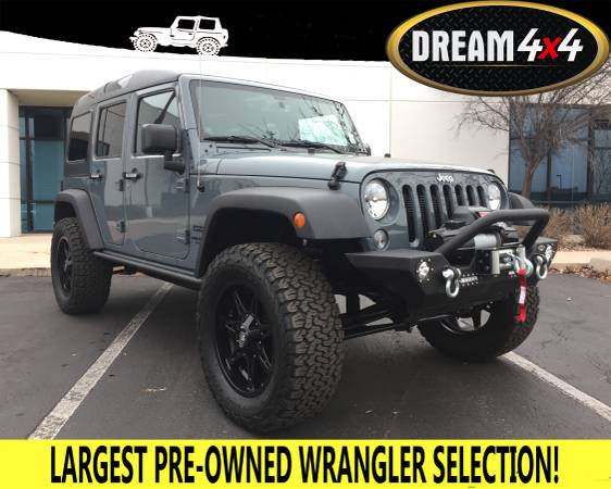 2014 JEEP WRANGLER UNLIMITED SPORT!! SAFARI STYLE HARD TOP!! LIFTED!!