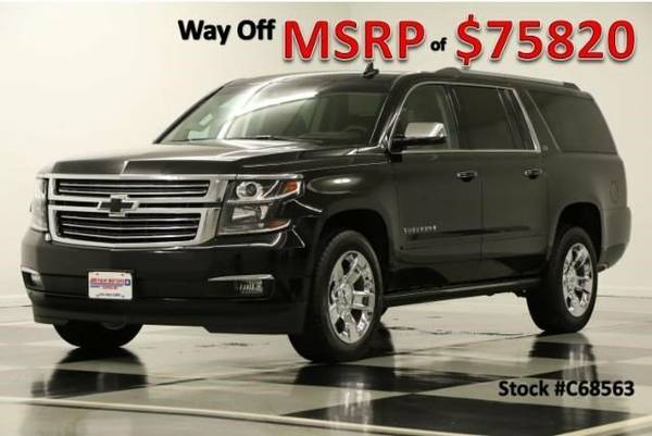 *SUBURBAN 4X4 w SUNROOF* 2016 Chevy *COOLED LEATHER - $8K OFF MSRP*