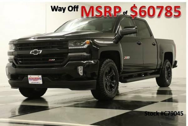 *TOUGH Black SILVERADO 1500 CREW 4X4* 2017 Chevy *MIDNIGHT - GPS*