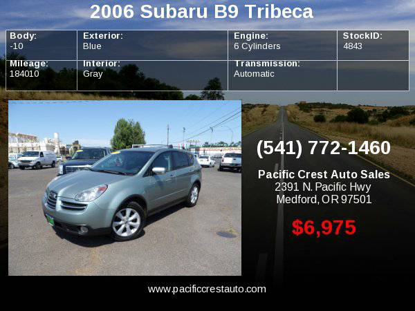 2006 Subaru Tribeca AWD LIMITED !!PRICE DROP!!