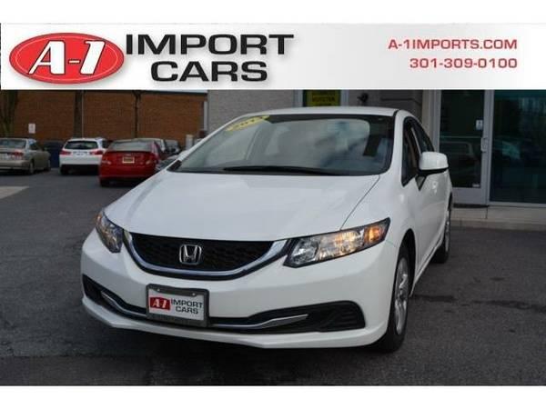 2013 *Honda Civic Sedan* 4dr Automatic LX (Taffeta White)