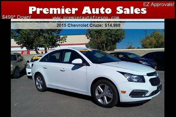 2015 Chevrolet Cruze LT, Low Miles, Like-New, Gas Saver, Low Down, Wow