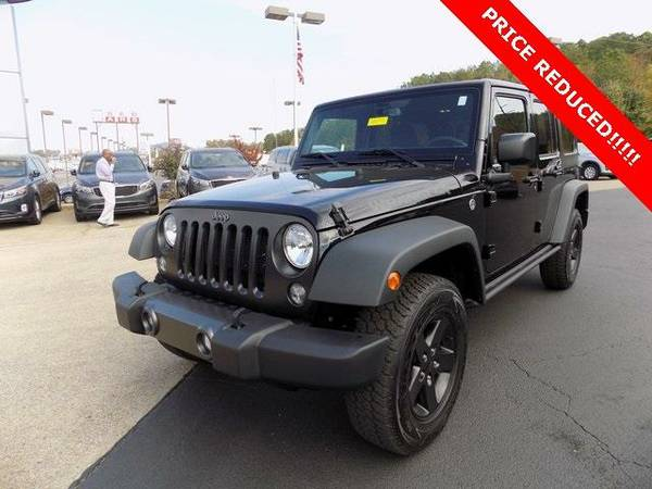 2016 *Jeep Wrangler* Unlimited Sport (Black Clearcoat)