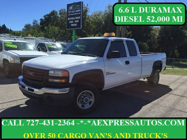 2005 GMC SIERRA 2500 V8 6.6L DURAMAX DIESEL WITH ONLY 52,000 MILES