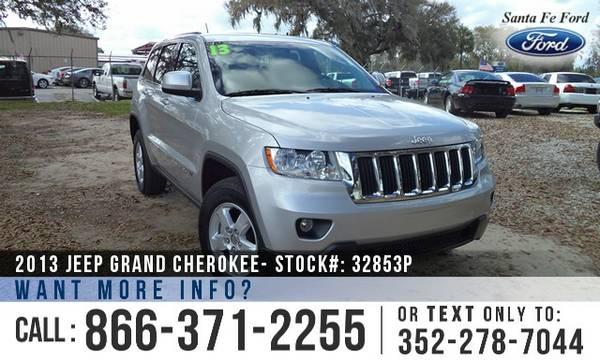 2013 JEEP GRAND CHEROKEE SUV *** Flex Fuel, Warranty, Jeep Cherokee **