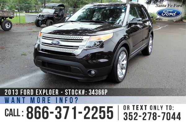 2013 FORD EXPLORER XLT EXPLORER *** Leather - Backup Camera - 3rd Row