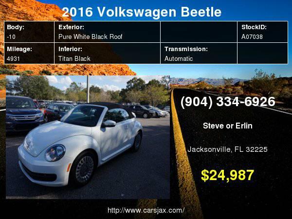 2016 Volkswagen Beetle 1.8T SE Hablamos Español