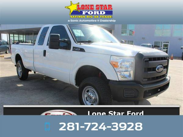 *2013* *Ford F250* *XL 4WD Supercab 158* White