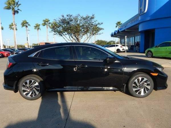 2017 *Honda Civic Hatchback* LX - Crystal Black Pearl
