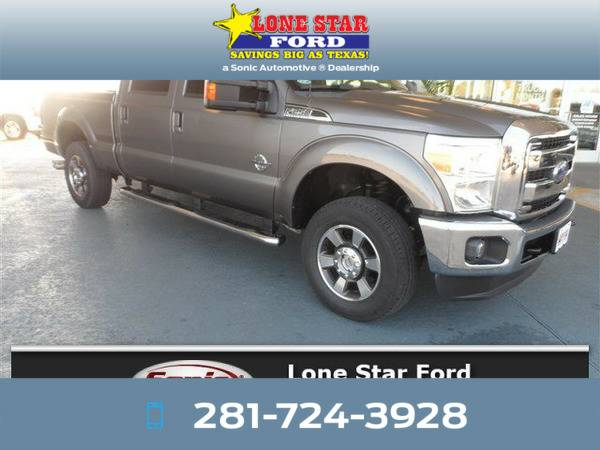 *2011* *Ford F250* *Lariat 4WD Crew Cab 156* Gray