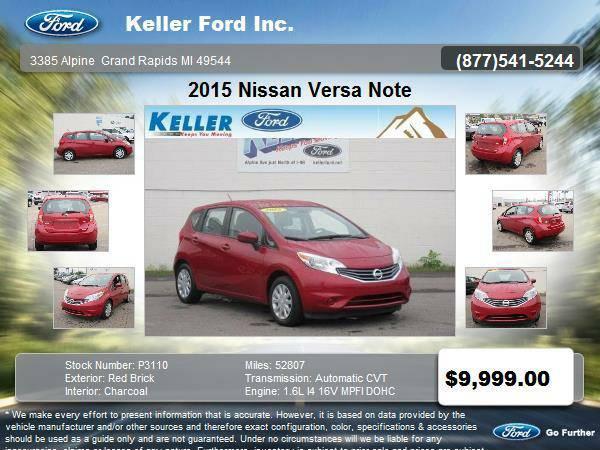 2015 Nissan Versa Note 4 Door Hatchback