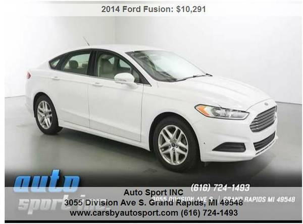 2014 Ford Fusion SE 4dr Sedan- ****Lowered Priced to sell TODAY!!!!!