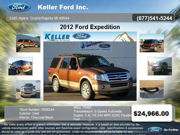 2012 Ford Expedition 4 Door SUV Gold