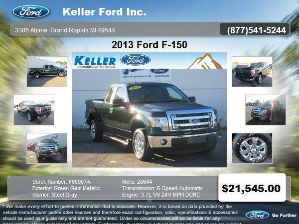 2013 Ford F-150 4 Door Extended Cab Truck only 28,644 miles