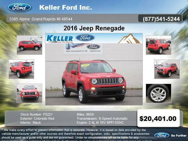 2016 Jeep Renegade 4 Door SUV