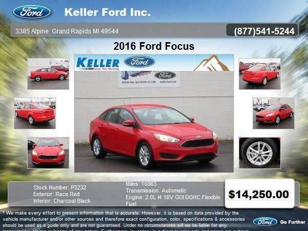 2016 Ford Focus 4 Door Sedan