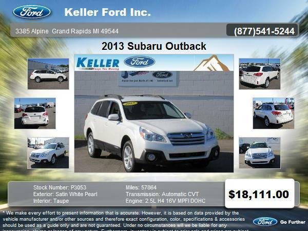 2013 Subaru Outback 4 Door SUV