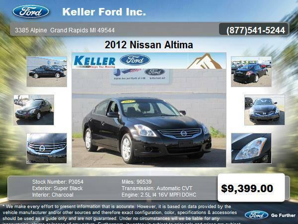 2012 Nissan Altima 4 Door Sedan