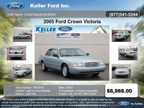 2005 Ford Crown Victoria 4 Door Sedan only 50,351 miles