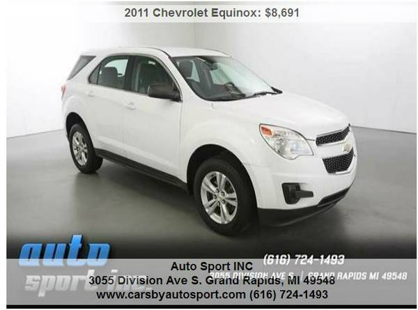 11 Chevrolet Equinox LS 4dr SUV ~~~ Lowered Priced to sell TODAY!