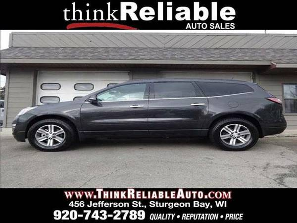 2016 CHEVROLET TRAVERSE LT AWD 1-OWNER HTD SEATS TUNGSTEN WARRANTY!!!!