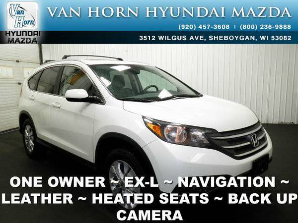 2013 *Honda CR-V* EX-L AWD - White Diamond Pearl BAD CREDIT OK!