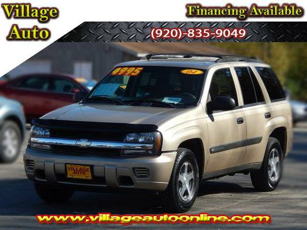 2004 *Chevrolet TrailBlazer* LS 4x4 - Gold-TRADE INS WELCOME!