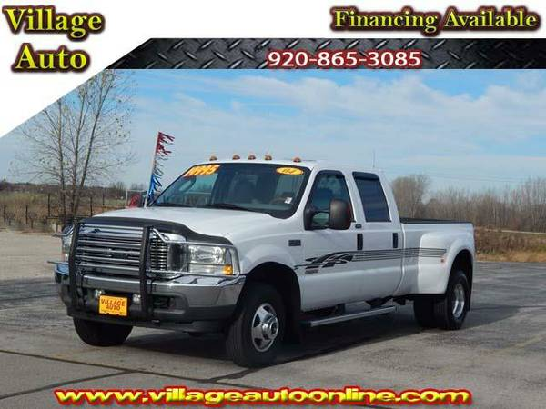 2004 *Ford F-350* LARIAT Crew Cab Longbox *4x4* Dually - Ford White
