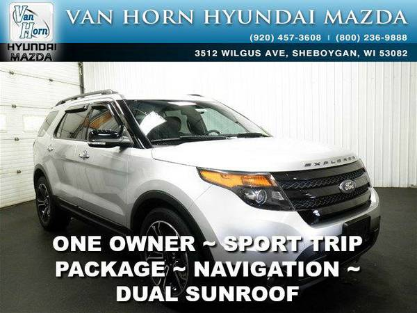 2014 *Ford Explorer* Sport AWD - Ingot Silver Metallic BAD CREDIT OK!