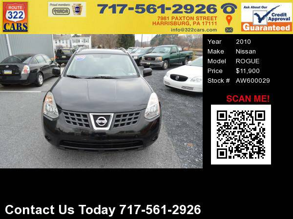 2010 NISSAN ROGUE AWD - Low Miles, Bad Credit Approved!