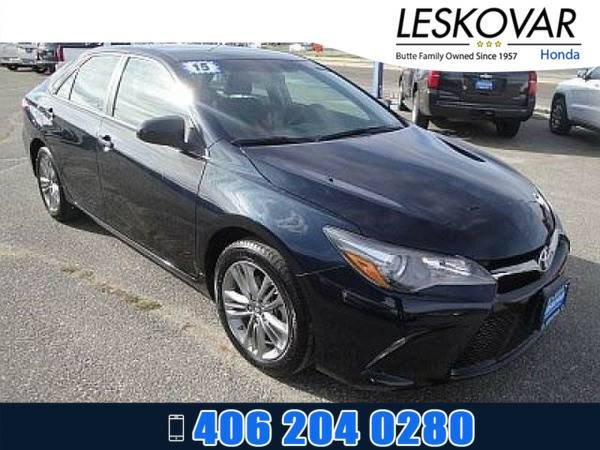 *2015* *Toyota Camry* *4dr Car SE* *Blue Crush Metallic*