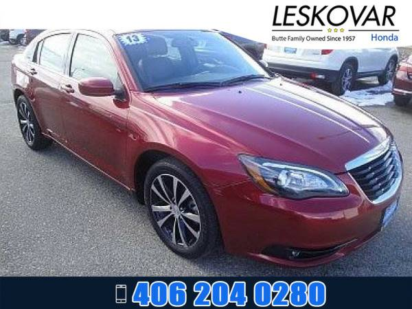 *2013* *Chrysler 200* *4dr Car Limited* *Red*