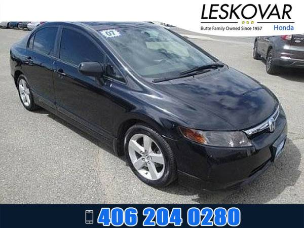 *2007* *Honda Civic Sdn* *4dr Car EX* *BLACK*