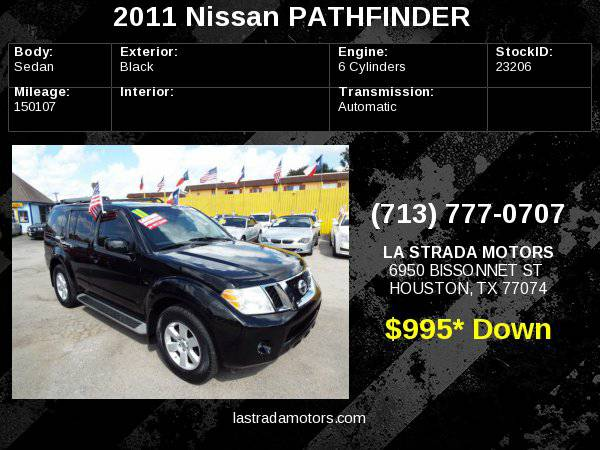 2011 NISSAN PATHFINDER S ~ Buy Here Pay Here ~ 100% IN-HOUSE FINANCING