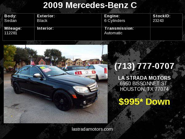 2009 MERCEDES-BENZ C 300 ~ Buy Here Pay Here ~ 100% IN-HOUSE FINANCING