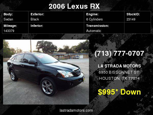 2006 LEXUS RX 400 ~ Buy Here Pay Here ~ 100% IN-HOUSE FINANCING