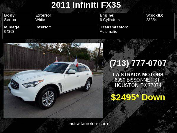2011 INFINITI FX35 ~ Buy Here Pay Here ~ 100% IN-HOUSE FINANCING