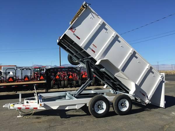 Big Tex Dump Trailer, Used Dump Trailers, 4ft High Sides 14LX-14-4