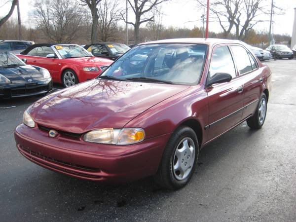2000 Chevy Prizm Only 61K! Red Super Reliable