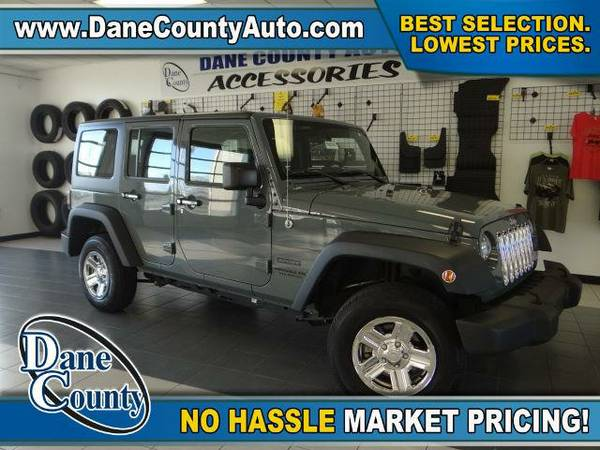 2014 *Jeep Wrangler Unlimited* Sport - Jeep Anvil Clear Coat